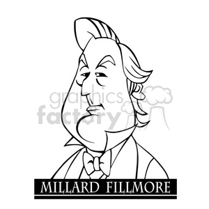millard fillmore black white clipart. Royalty-free image # 392979