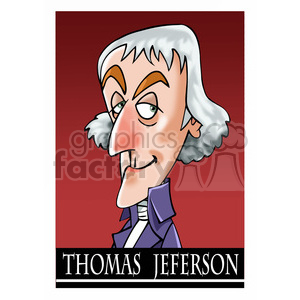 thomas jefferson color clipart. Royalty-free image # 393031