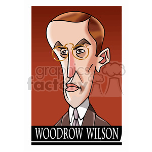 woodrow wilson color clipart. Royalty-free image # 393051