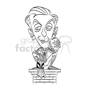 tobey maguire black white clipart. Royalty-free image # 393061
