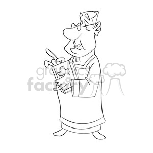 priest black and white clipart. Royalty-free image # 393290