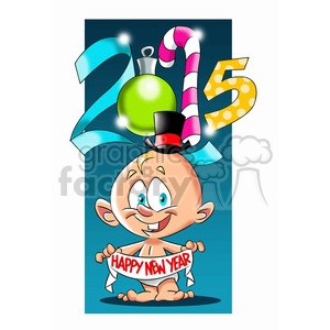 2015 baby new year clipart. Commercial use image # 393424