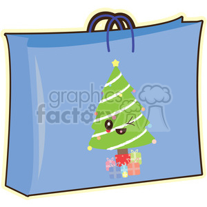 Gift Bag cartoon character clipart. Royalty-free image # 393544