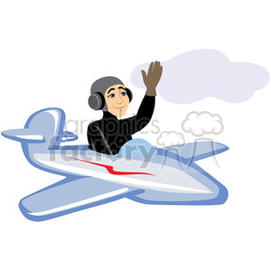 man flying an airplane clipart. Royalty-free image # 393621