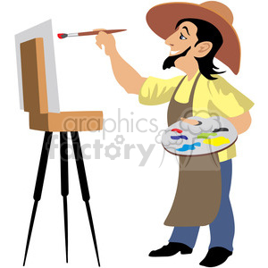 artist painting a picture clipart. Commercial use image # 393655