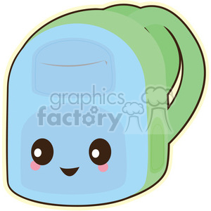 Backpack vector clip art image clipart. Royalty-free image # 393769