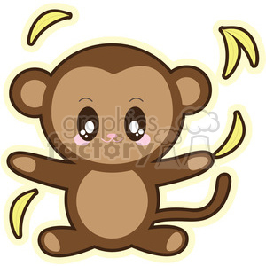 cartoon monkey illustration clip art image clipart. Royalty-free image # 393839