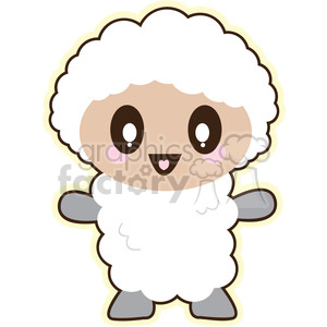 cartoon lamb illustration clip art image clipart. Royalty-free image # 393849