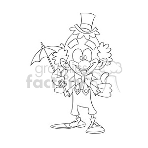 black and white image of clown dog nino con difraz de payaso clipart. Commercial use image # 393975