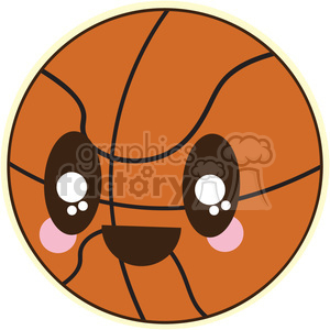 BasketBall cartoon character illustration clipart. Royalty-free image # 394115