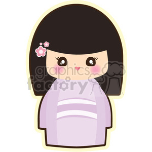 Geisha Chubby cartoon character illustration clipart. Royalty-free image # 394155