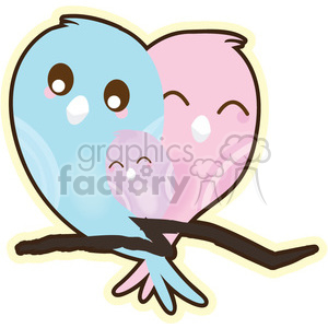 LoveBirds Baby cartoon character illustration clipart. Commercial use image # 394195