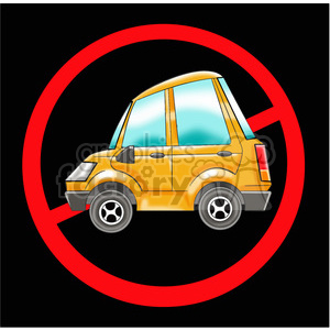 no cars sign clipart. Royalty-free image # 394276