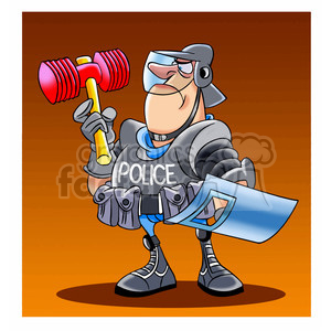 militarized police clipart. Commercial use image # 394296