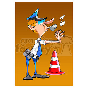 traffic police officer cartoon clipart. Royalty-free image # 394306