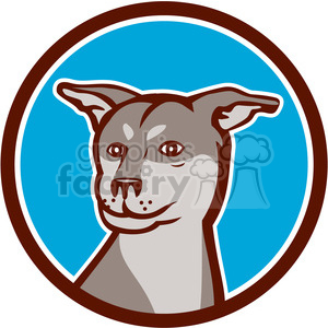 husky shar pei dog HEAD clipart. Royalty-free image # 394436