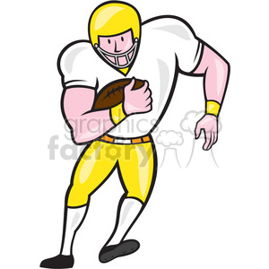 american football fullback front OL clipart. Commercial use image # 394566