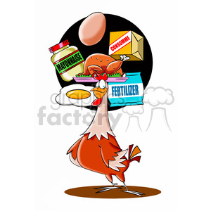 chicken thinking about their effect on humanity clipart. Royalty-free image # 394796