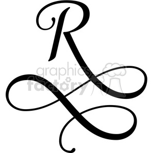 monogrammed r clipart. Commercial use image # 394822