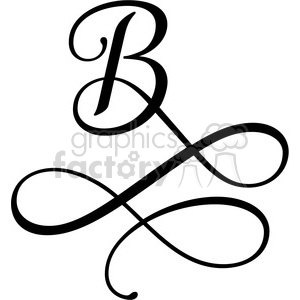 monogrammed b clipart. Royalty-free image # 394832