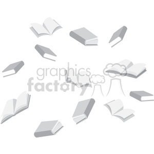 flying books clipart. Royalty-free image # 394842