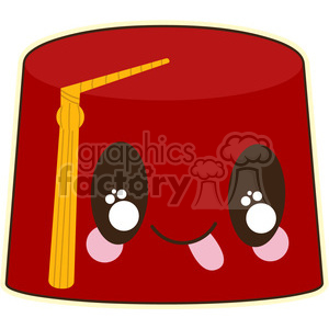 Fez cartoon character vector image clipart. Royalty-free image # 394879