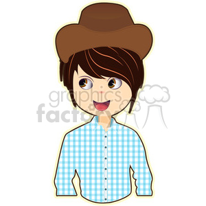 Cowboy cartoon character vector image clipart. Royalty-free image # 394929