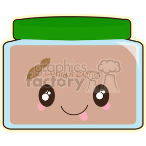 Peanut Butter cartoon character vector image clipart. Royalty-free image # 394969