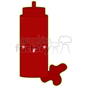 Ketchup cartoon character vector image clipart. Royalty-free image # 394979