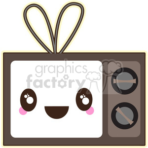 TV cartoon character vector image clipart. Commercial use image # 394883