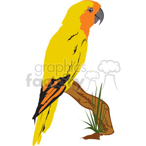 Org Yellow Bird clipart. Commercial use image # 395005