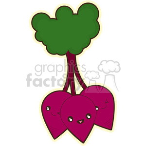Beetroot cartoon character vector clip art image clipart. Royalty-free image # 395015