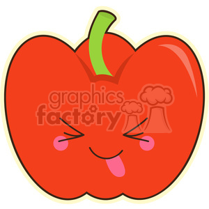 Bell Pepper cartoon character vector clip art image clipart. Commercial use image # 395035
