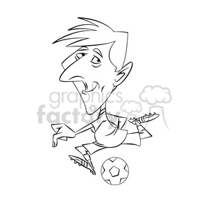 lionel messi black and white clipart. Royalty-free image # 395082