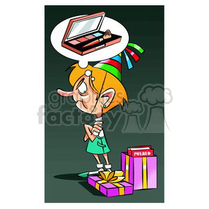 cartoon funny silly comics character mascot mascots girl upset birthday gift gifts presents mad