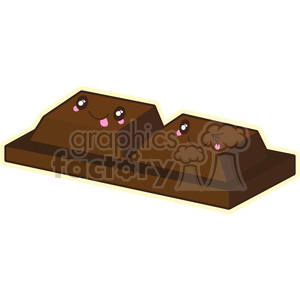 Chocolate pieces cartoon character clipart. Royalty-free image # 395251