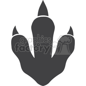 8767 Royalty Free RF Clipart Illustration Dinosaur Paw Print Vector Illustration Isolated On White Background clipart. Commercial use image # 395343