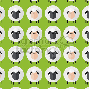8233 Royalty Free RF Clipart Illustration Sheep Pattern Modern Flat Design Vector Illustration clipart. Commercial use image # 395433