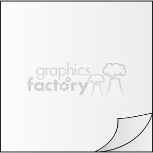 Royalty Free RF Clipart Illustration Paper Corner With White Background clipart. Commercial use image # 395833