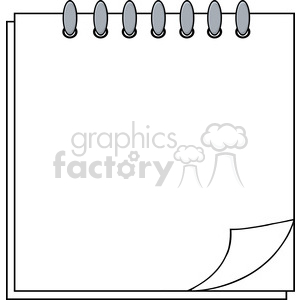 Royalty Free RF Clipart Illustration Calendar With Paper Corner clipart. Commercial use image # 396015
