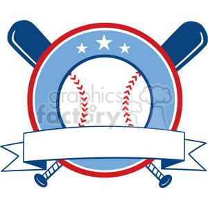 Baseball Banner clipart. Royalty-free image # 396064