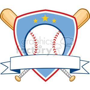 Baseball Banner Design clipart. Royalty-free image # 396074