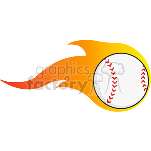 Flaming Baseball Ball clipart. Royalty-free image # 396084