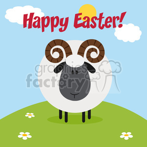 easter holiday cartoon sheep lamb