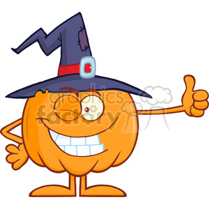 8891 Royalty Free RF Clipart Illustration Winking Witch Pumpkin Cartoon Character Holding A Thumb Up Vector Illustration Isolated On White clipart. Commercial use image # 396204