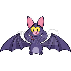 8943 Royalty Free RF Clipart Illustration Happy Vampire Bat Cartoon Character Flying Vector Illustration Isolated On White clipart. Royalty-free image # 396254