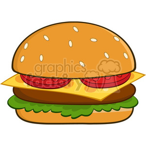 8515 Royalty Free RF Clipart Illustration Hamburger Vector Illustration Isolated On White clipart. Commercial use image # 396680