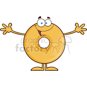 8657 Royalty Free RF Clipart Illustration Funny Donut Cartoon Character Wanting A Hug Vector Illustration Isolated On White clipart. Royalty-free image # 396802