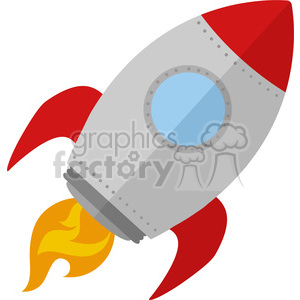 8301 Royalty Free RF Clipart Illustration Rocket Ship Start Up Concept Flat Style Vector Illustration clipart. Royalty-free image # 397030