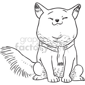chubby cat clipart. Royalty-free image # 397069